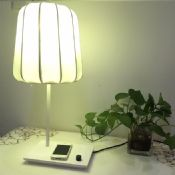 LED table lamp with wireless charging port images