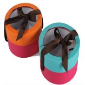 PVC Window On Top Gift Box with Ribbon images